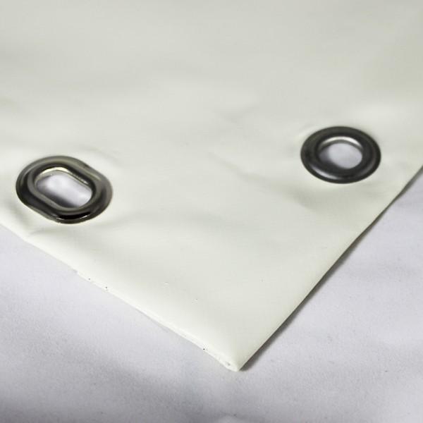 PVC matt mit Saum und Ösen alle 100cm, cremeweiß