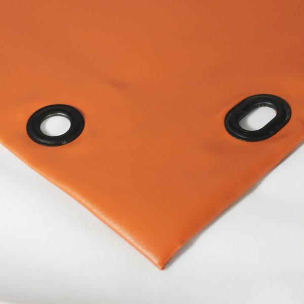 PVC matt mit Saum und Ovalösen alle 100cm, ton