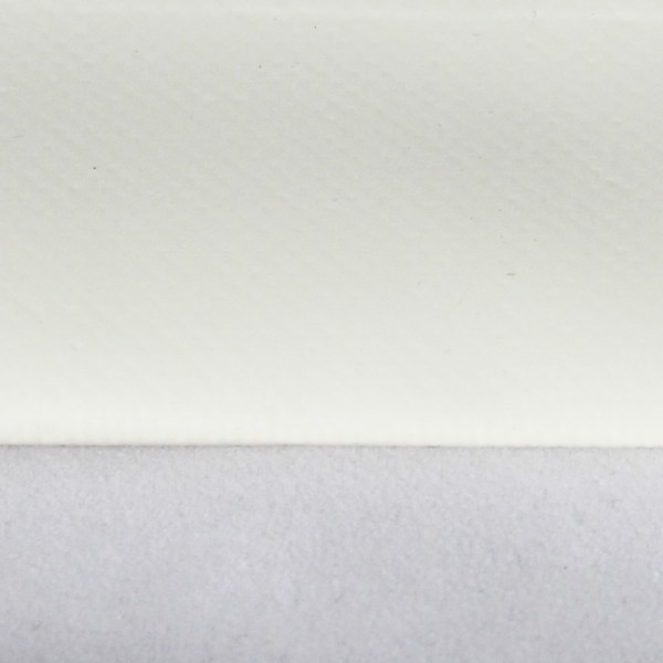 PVC matt mit Saum und ohne Ösen, cremeweiß