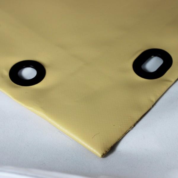 PVC matt mit Saum und Ovalösen alle 100cm, beige dunkel
