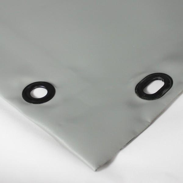 PVC matt mit Saum und Ovalösen alle 50cm, dunkelgrau