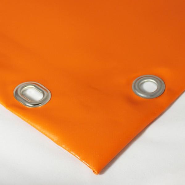 PVC matt mit Saum und Ösen alle 100cm, orange dunkel