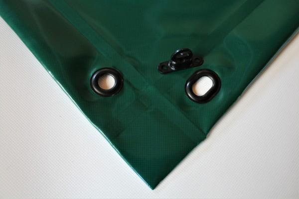mit Saum und Ovalösen alle 50cm, moosgrün, inkl. Drehwirbel