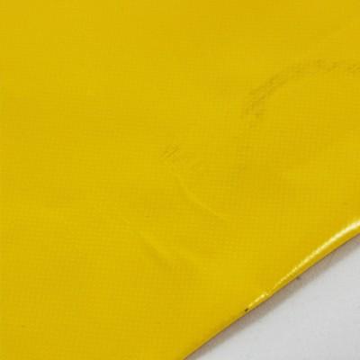 mit Saum und ohne Ösen, gelb