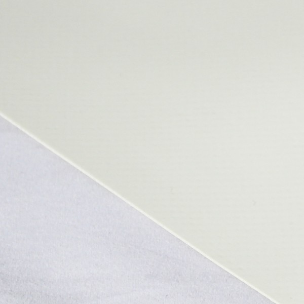 PVC matt ohne Saum und ohne Ösen, cremeweiß