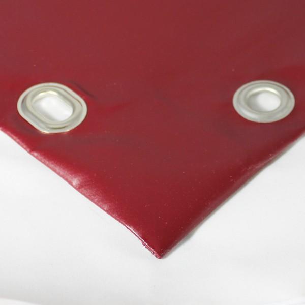 PVC matt mit Saum und Ovalösen alle 100cm, purpurrot