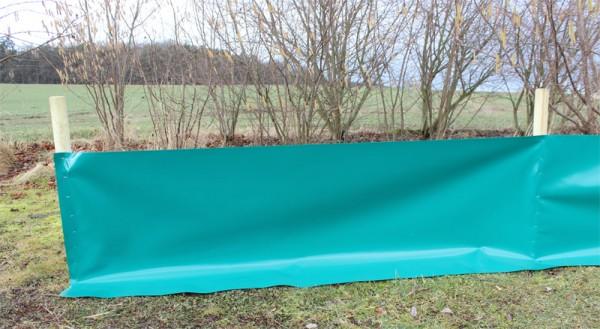 Reptilienschutzzaun/Amphibienschutzzaun 120 cm für Holzpfosten
