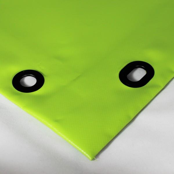 PVC matt mit Saum und Ösen alle 50cm, grasgrün